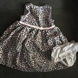 Pink & gray Leopard dress